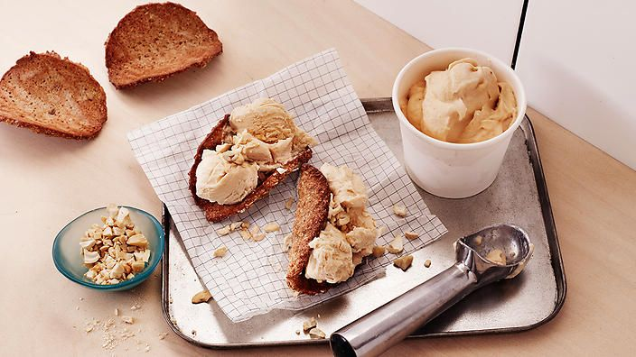 """This is my twist on the classic Aussie Anzac biscuit, complete with a quick banana ice-cream that doesn't even need churning."" Rachel Khoo #rkkitchennotebook"