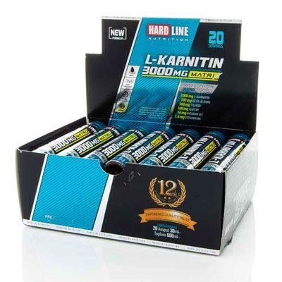 Hardline L-Karnitin Matrix 3000 mg 20 Ampul