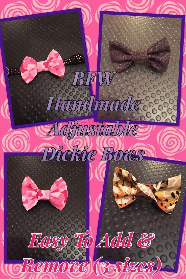 Best Friends World - BFW Handmade Custom Order Adjustable Dickie Bows, €3.50 (http://www.bestfriendsworld.ie/bfw-handmade-custom-order-adjustable-dickie-bows/)