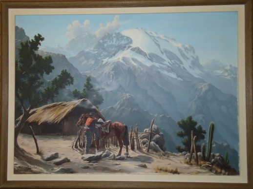 Jorg Everbeck Chilean Frontier Mountain Scene.  Check them out at The Corner Shoppe, 27 Calendar Ave, LaGrange, IL 708-579-2425