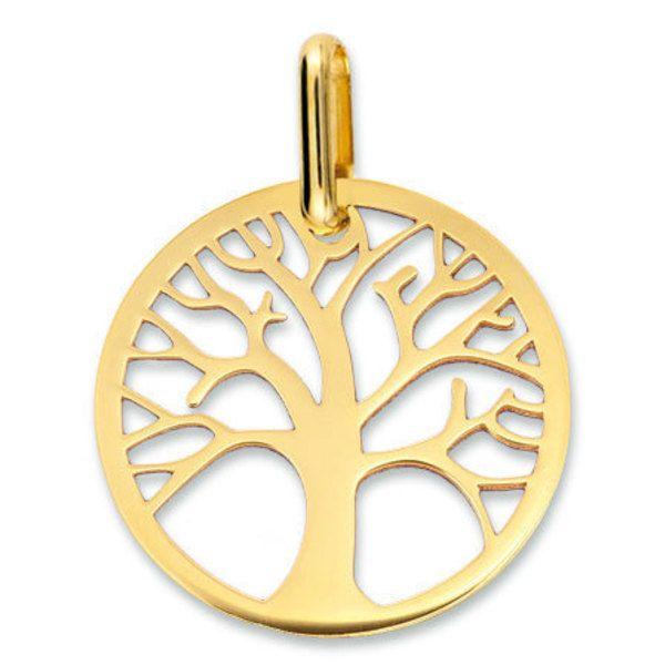 Médaille Arbre de vie ajourée (or jaune 18ct) (Mon Premier Bijou) sur PremierCadeau.com