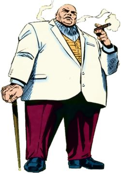 The Kingpin (real name Wilson Fisk) is a fictional supervillain appearing in American comic books published by Marvel Comics. The character is portrayed as one of the most feared and powerful crime lords in the Marvel Universe, typically holding the position of New York City's crime overlord.