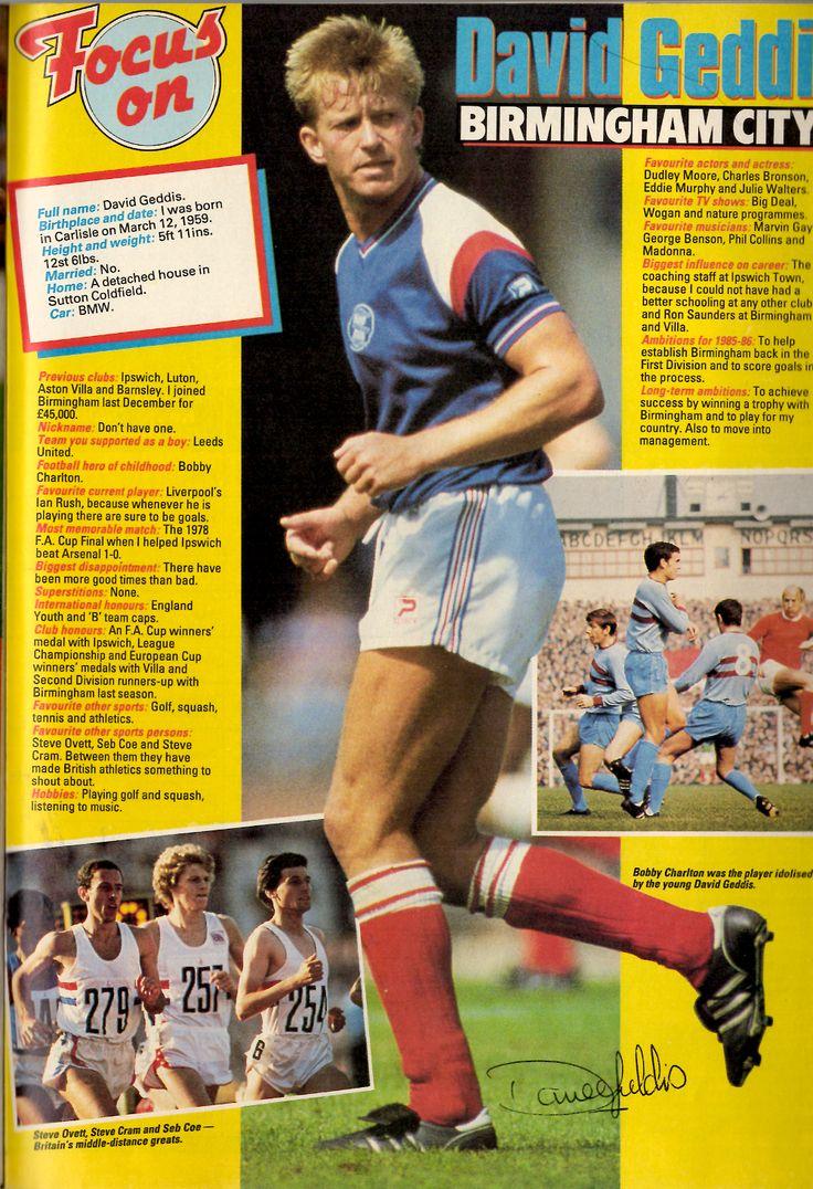 Image Shoot Football Magazine In Focus Profile Of David Geddis Birmingham City