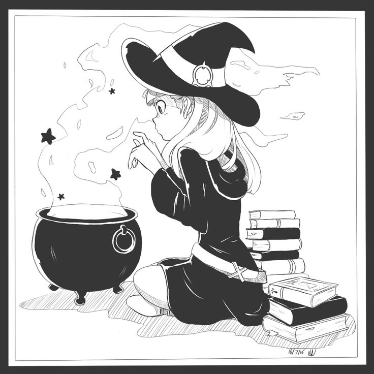 Inktober #4! Akko from Little Witch Academia~