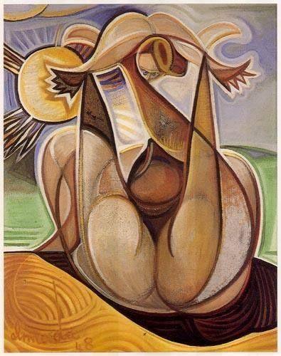 «Maternidade», óleo sobre madeira,1948. José de Almada Negreiros.