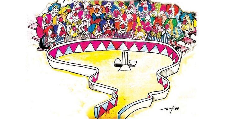 Resultado de imagem para congresso é um circo charge