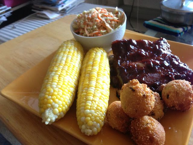 Dreaming of pots and pans: Feels like summer, tastes like summer: easy oven ribs and homemade hushpuppies