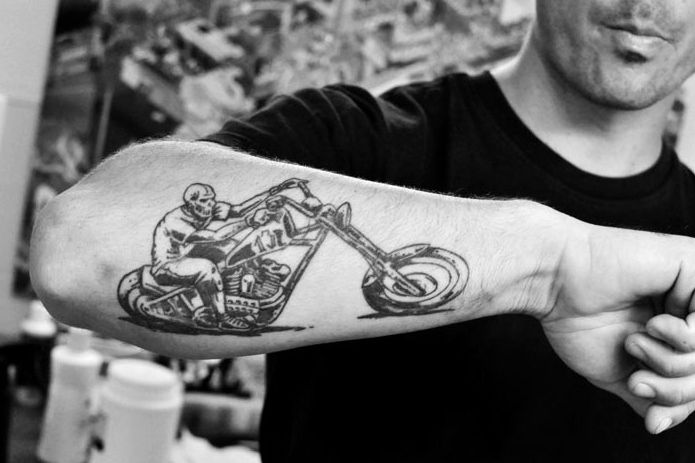 awesome biker forearm tattoo tattoo idears pinterest awesome tattoos and body art and. Black Bedroom Furniture Sets. Home Design Ideas