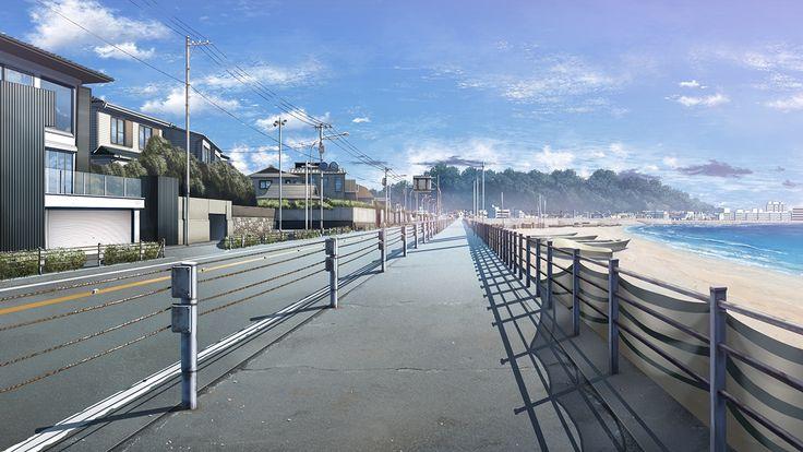 Cityscape city town anime scenery background wallpaper - Anime backdrop wallpaper ...