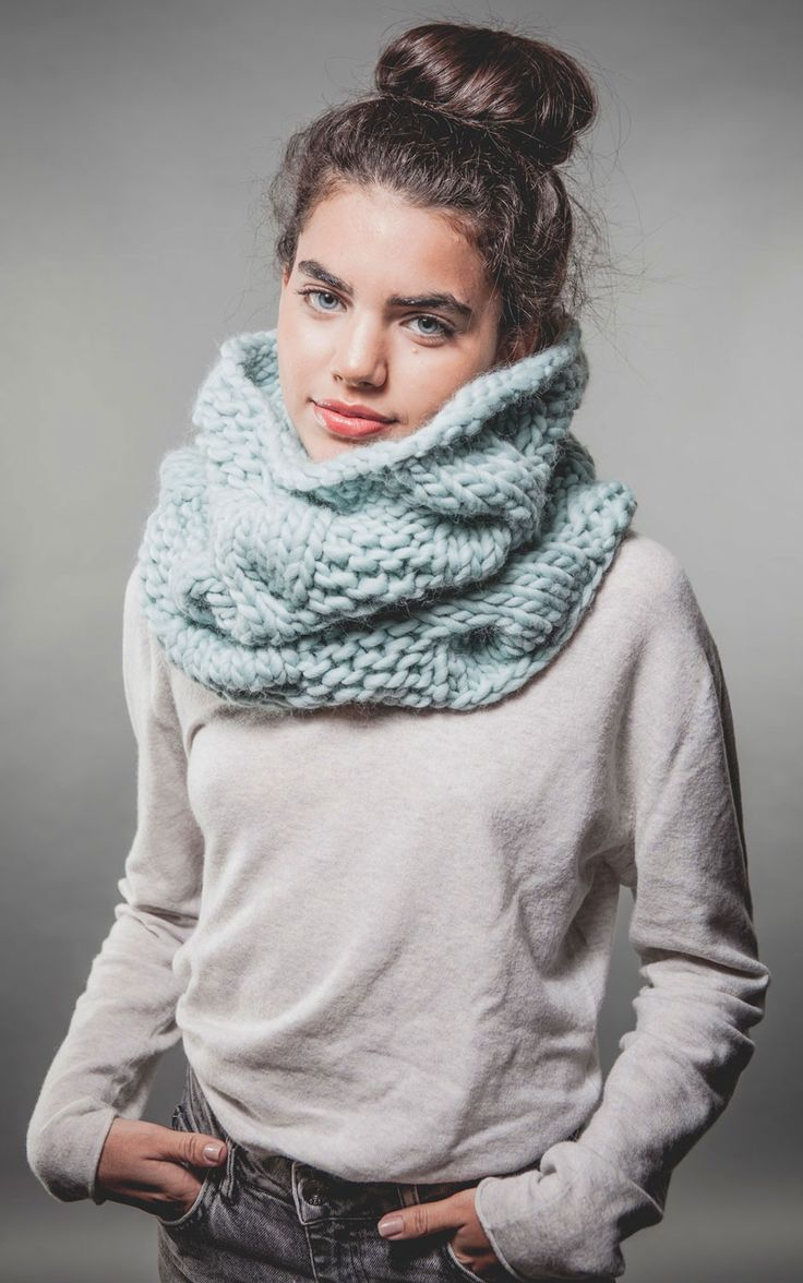 Urban Snood KIt in Aqua | WE ARE KNITTERS