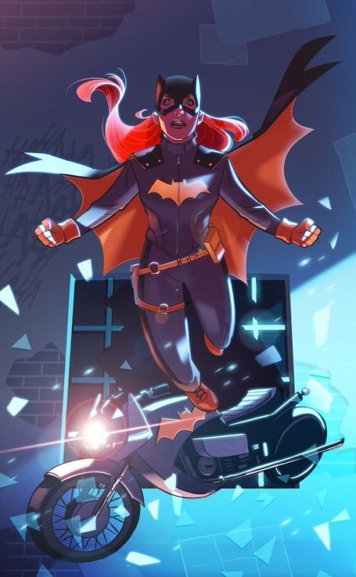 Batgirl Leaping Into Action - Stephen Byrne