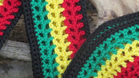 Rasta Scarf Rastafarian Scarf Bob Marley by TheFlyButterFactory