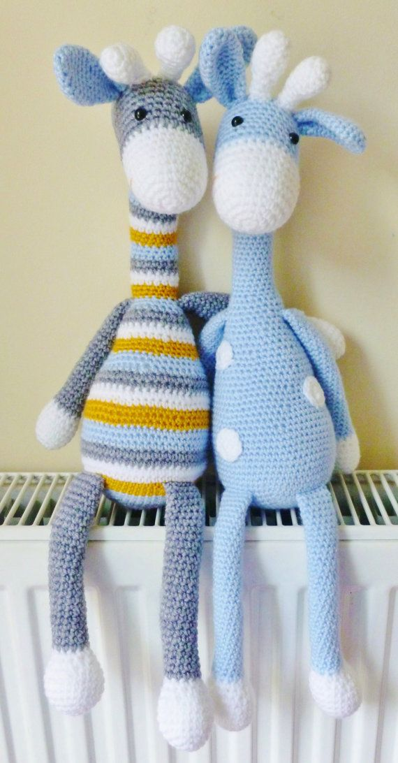**PLEASE NOTE THIS LISTING IS FOR CROCHET PATTERN NOT ACTUAL TOY**  Amigurumi crochet pattern  This cute Giraffe is my own design, when finished measures 15 tall including the legs (when using DK yarn and size 3.5 hook) He will be approx. 24 if you use a chunky yarn with 3.5 hook.  The pattern is quite straight forward I recommend it as a beginner/intermediate pattern.The instructions are detailed and easy to follow if you know the basic stitches and techniques used to make amigurumi . T...