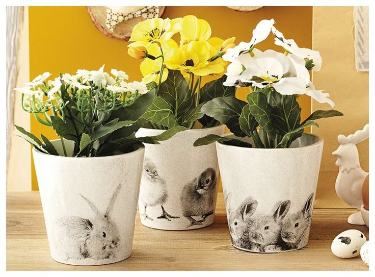 Met Pasen komt ook het voorjaar: tijd voor bloemen dus! In deze leuke bloempotjes stralen zelfs jouw bloemen en planten Pasen uit!