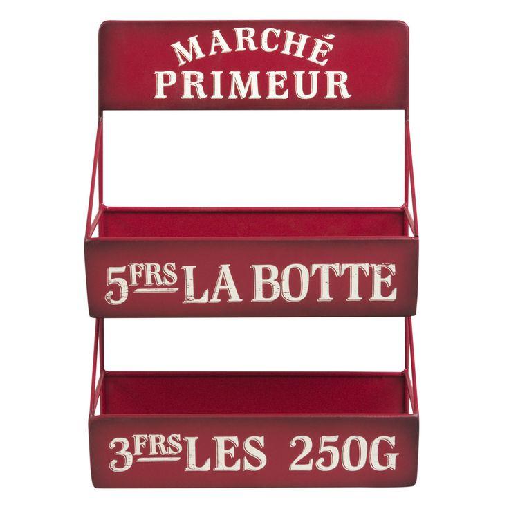 Opbergrek van rood metaal | Maisons du Monde