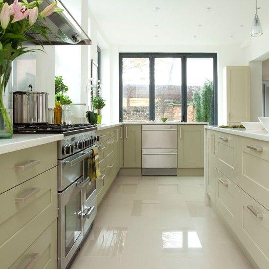 Pale Sage Green Kitchen Cabinets