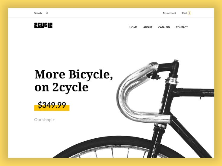 Bicycle e-commerce website design by inthink.studio