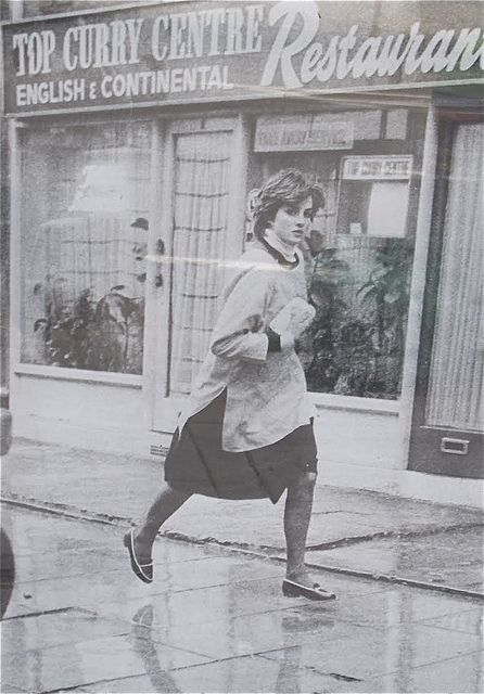 Lady Diana Frances in her Young England Pinny. It looks like Lady Diana was sent out to get something.