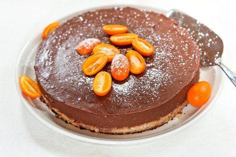 Hyydytetty suklaa-appelsiinikakku