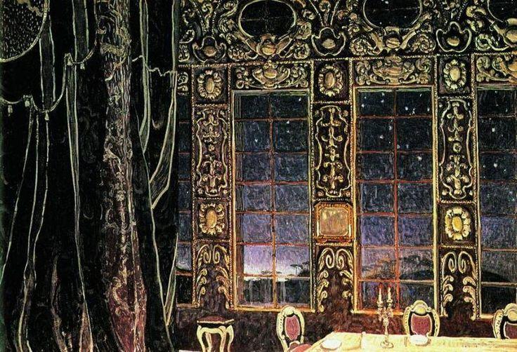 Александр Головин Эскиз декорации 1910.