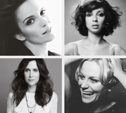 tina fey, maya rudolph, kristen wiig, amy poehler. my favorite funny ladies.