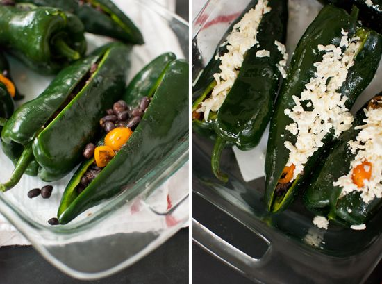Beer Bean-Stuffed Poblano Peppers - Cookie and Kate