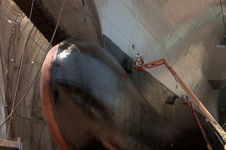 Fresh Paint on the USS Ford's [CVN-78] Bulbous bow.[1600 X 1064]