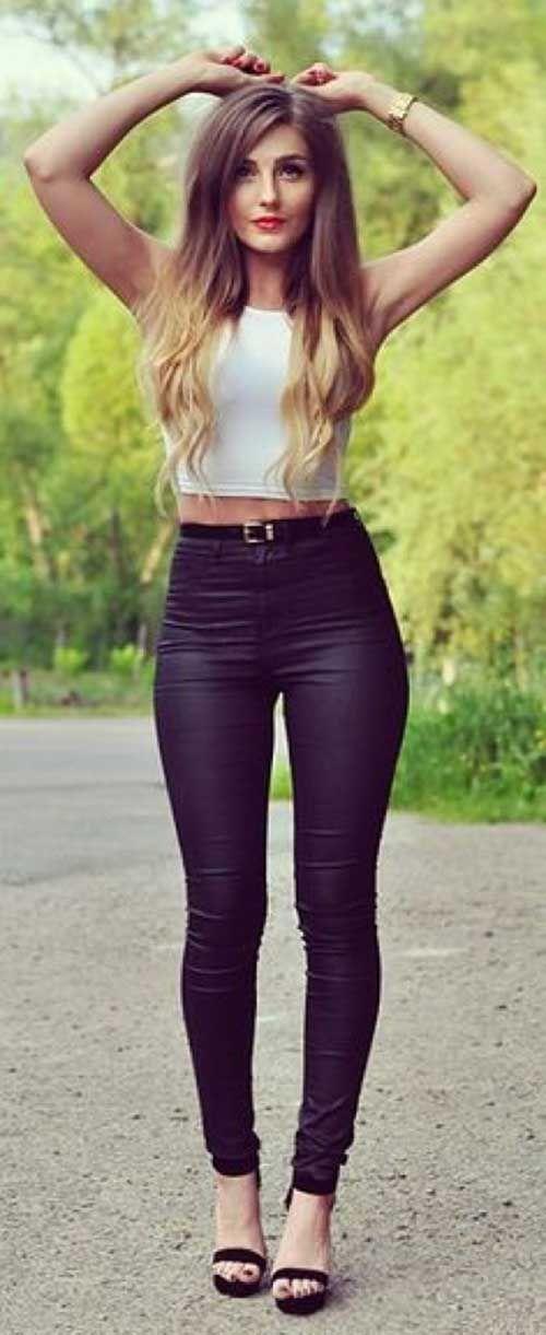 12.Yüksek Bel Pantolon Kombin