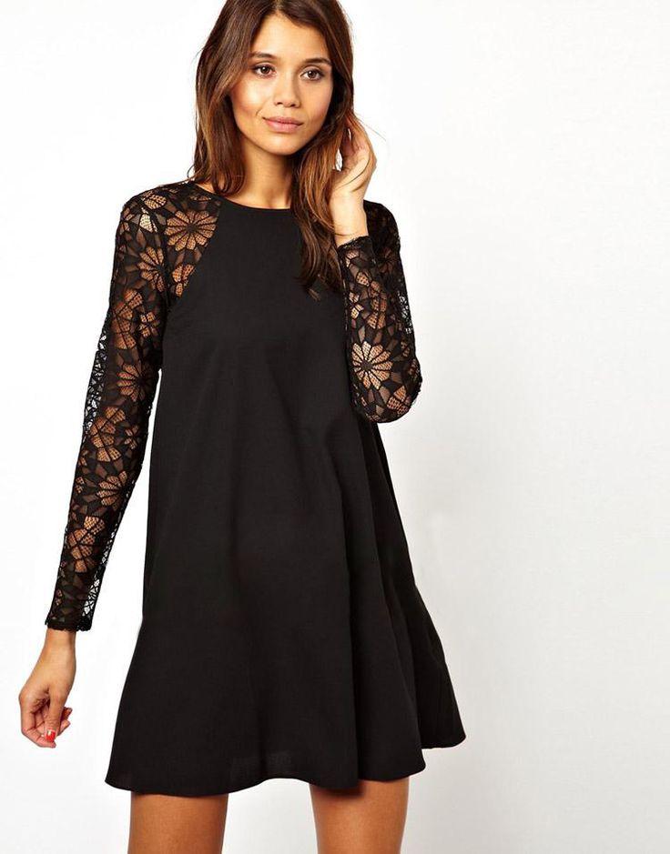 Vestido de maternidad negro