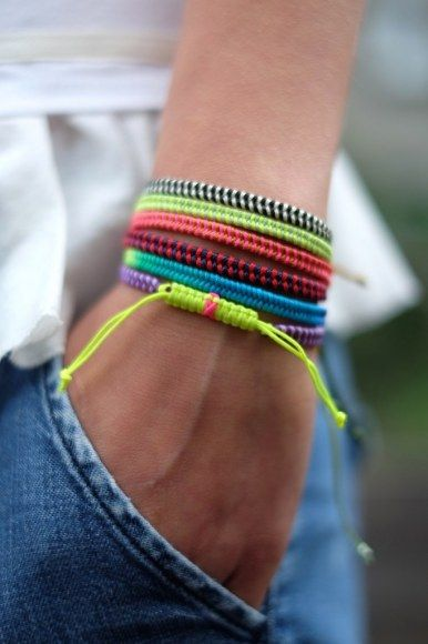 fishtail bracelets | would be awesome for a fundraiser!