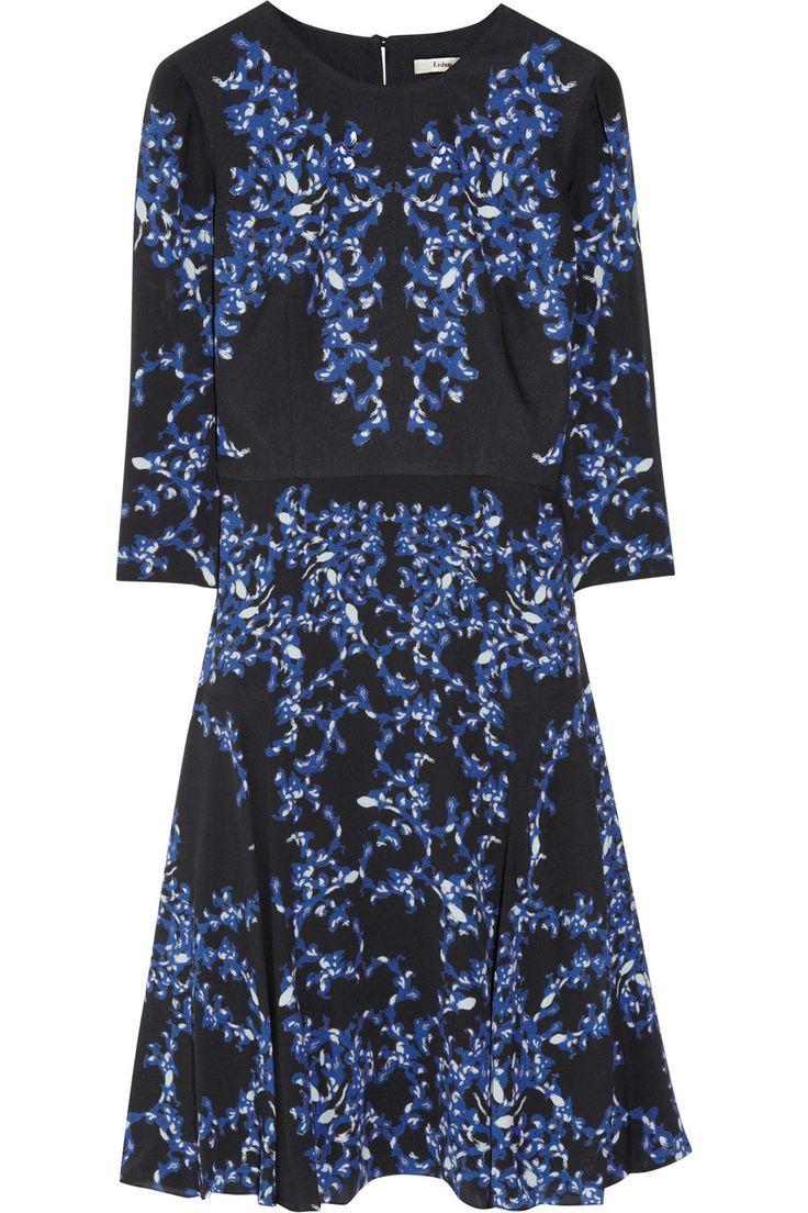 Erdem - Lily printed silk-crepe dress