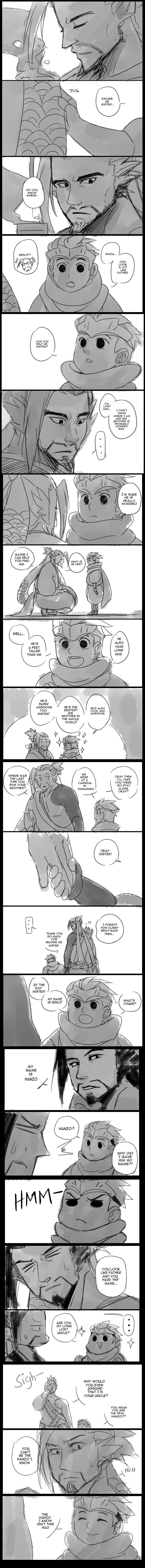Time Travel Shenanigans AU (Hanzo's side) by Fruitloop-chan