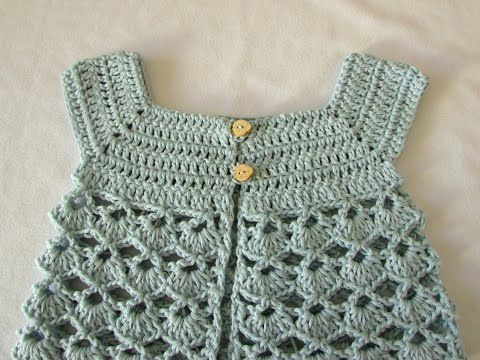 How to crochet a little girl's lace cardigan / sweater - YouTube