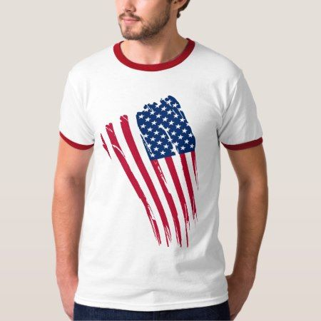 AMERICAN FLAG RINGER TEE - click/tap to personalize and buy