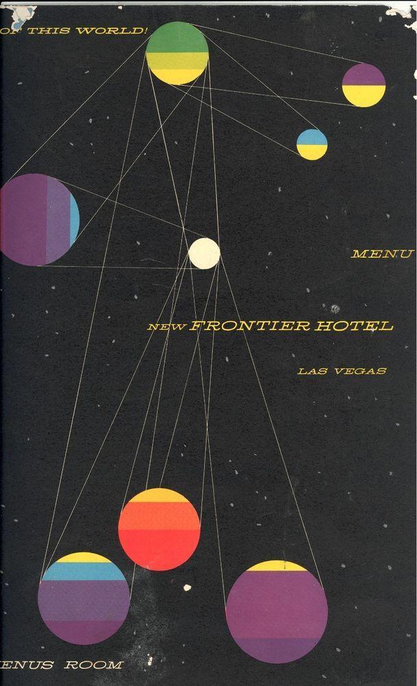 New Frontier Hotel Las Vegas Venus Room Menu 1955 Saul Bass cover