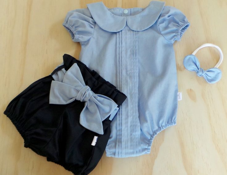 Pleatie Romper and Ruffle Bloomers