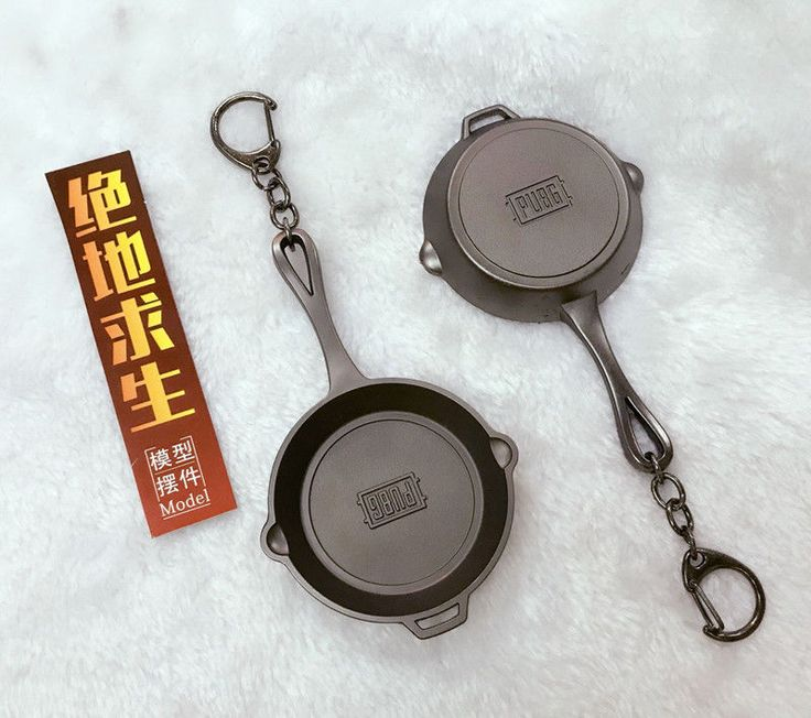 Game PUBG Playerunknown's Battlegrounds Cosplay Costumes Keychain Pan Key Chain #UnbrandedGeneric