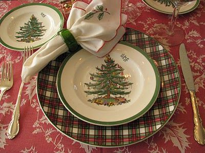 Spode Christmas Tree and Tartan