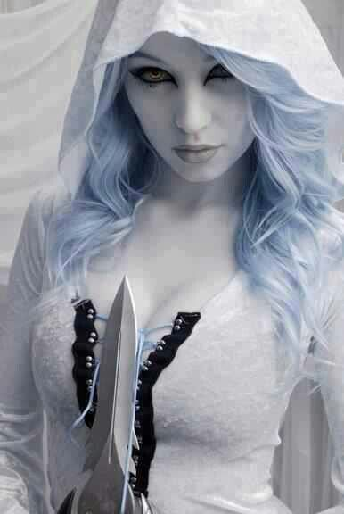 White goth...cool !  http://HalloweenMarketplace.com