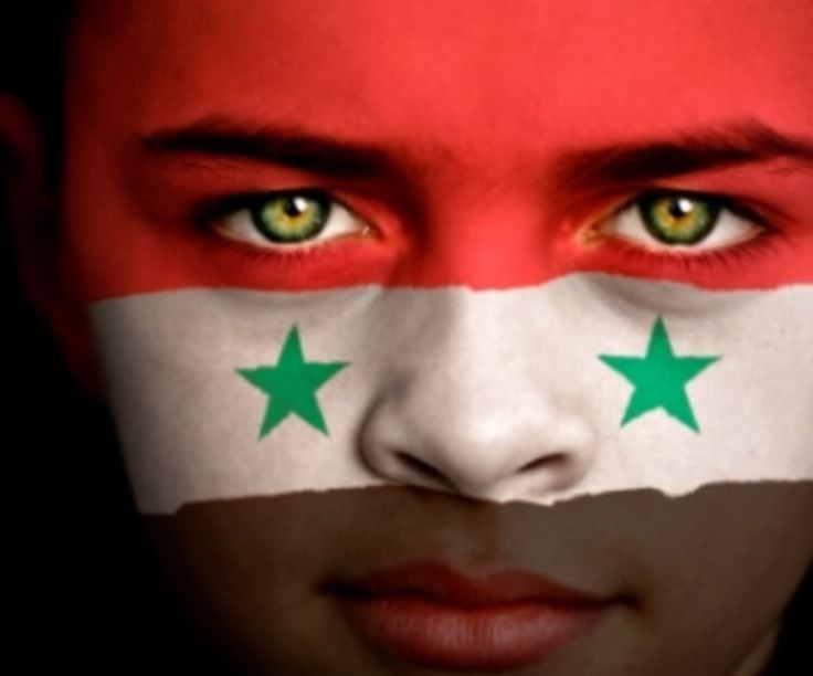 Syria Flag Boy Capital: Damascus