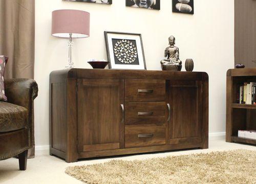 Shiro Walnut Large Sideboard #wood #furniture #livingroom #lounge #bedroom #office #study #hallway #modern #contemporary #minimalist #interior #home #decor #interiorinspiration #sideboard #table