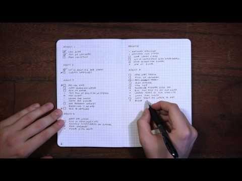 Bullet Journal - L'art des listes à partir d'un simple carnet ! ( anglais )