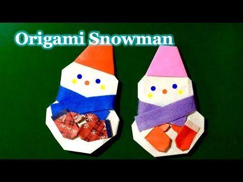 Origami Snowman. 折り紙 雪だるま - YouTube