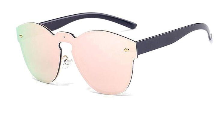 Amazon.com: GAMT Reflective Futuristic Rimless Frame Sunglasses for Men Pink: Clothing