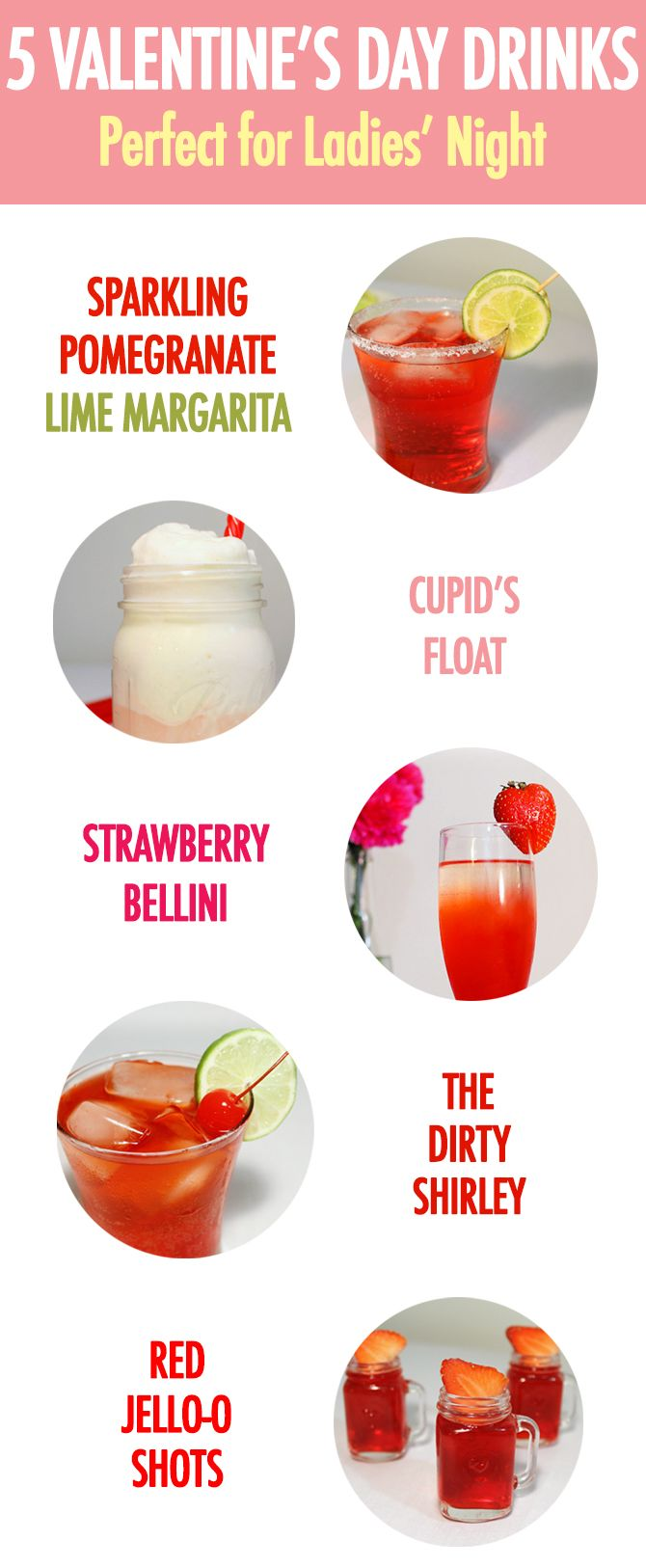 5 3-ingredient drinks perfect for a Lady's Night.