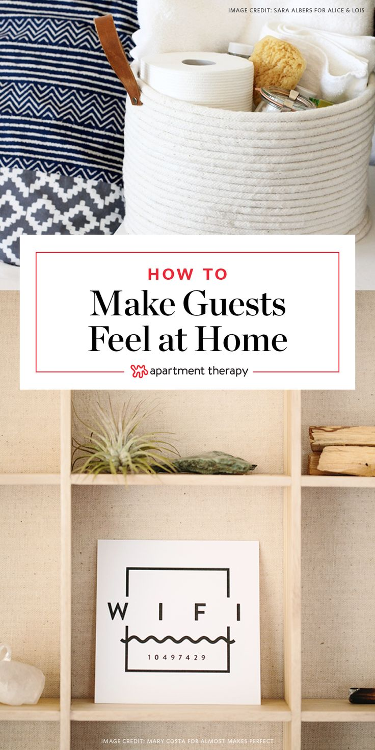 10 Simple Ways to Make Your Holiday Guests Feel More At Home | Hosting family and/or friends for the holidays? These 10 thoughtful projects will make your guests feel right at home—no more late-night Forgot To Get The Wifi Password Regret or early-morning Trying To Make Coffee In A Strange Kitchen Without Waking Everyone Up!