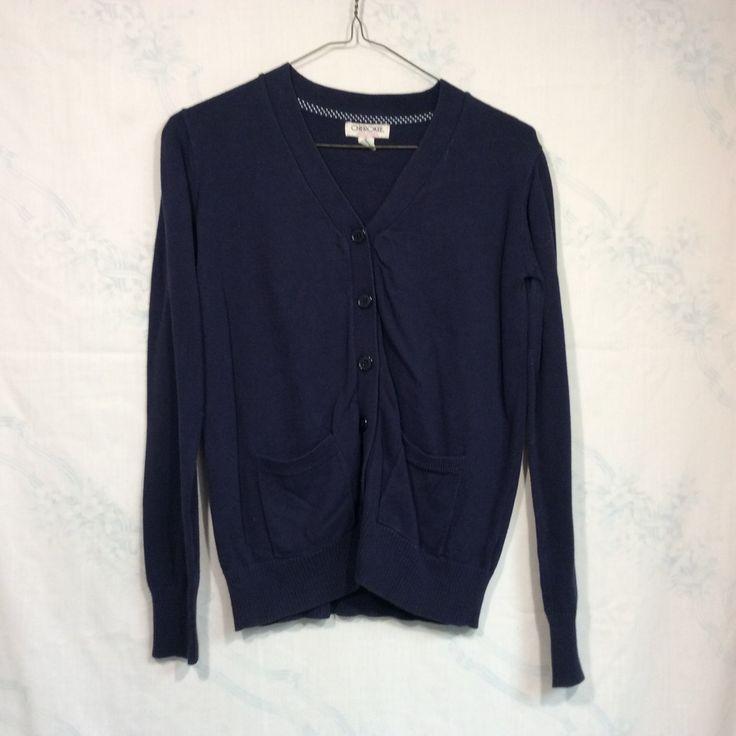 Navy Blue Cardigan (XS)