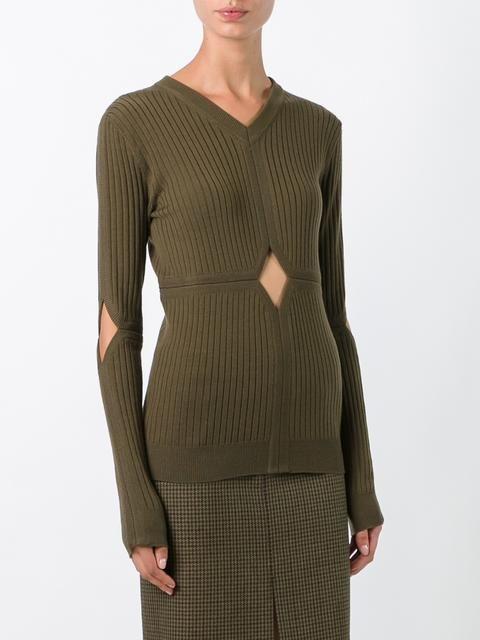 Courrèges cut-off detailing knit blouse