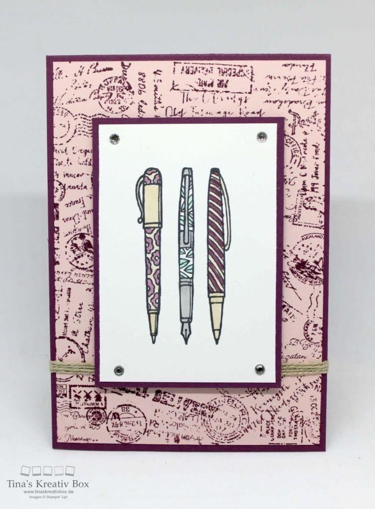 Pootler's Design Team Woche 2 – Grußkarte Post Script - mit Produkten von Stampin' Up!