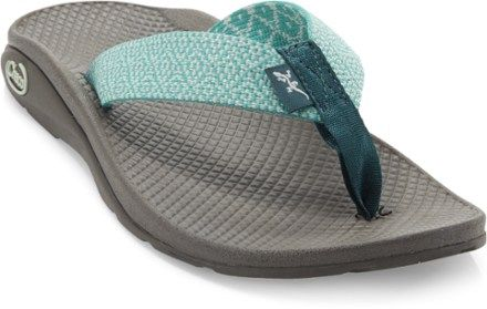 The colorful Chaco Flip EcoTread™ flip-flops go way beyond average summer sandals. They offer excellent support and durability for leisurely strolls and trips to the beach. Available at REI, 100% Satisfaction Guaranteed.